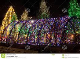 Natal Circle Holiday Lights Christmas Light Tunnel Stock Image Image Of Square 101728743