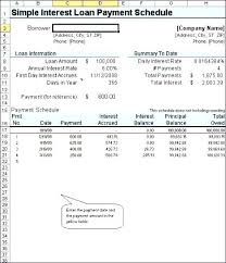 Amortize A Loan Formula Simple Interest Amortization Schedule Excel Student Loan Excel