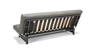 Stoff-Schlafsofa in grau ausklappbar - Schlafcouch Astoria