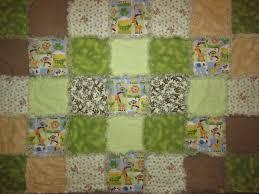 Launi's Rag Quilts | Just another WordPress.com site & #205 Green/Brown Jungle Baby Blanket SOLD Adamdwight.com