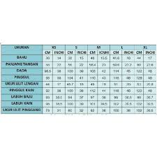Sizing Chart For Dhia Cotton Kurung Everything Else Others
