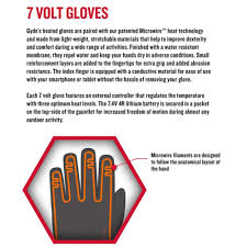 Gerbing Gyde S4 Heated Gloves Black 7v Battery
