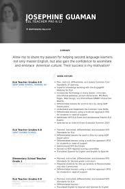 Teacher Resume Samples VisualCV Resume Samples Database Interesting Grade Resume