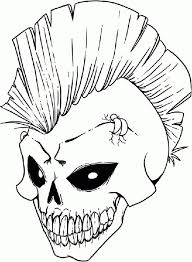 Small Picture Gangster Skull Coloring Pages Coloring Coloring Pages