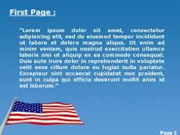American Usa Flag Powerpoint Template