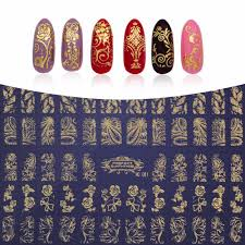 Online Get Cheap 3d Metallic Flower Decals Nail Art Stickers ...