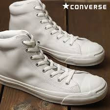 converse jack purcell leather mid converse mens womens sneakers jack purcell leather mid white white