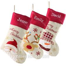 personalized stockings customized name embroidered name gifts for family dhl tnt size 18