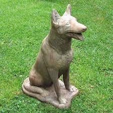 dog garden statue. Contemporary Dog German Shepherd Garden Statue With Dog O