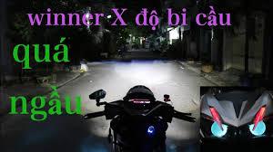 winner X độ 2 bi cầu LED sáng gấp 10 lần đèn zin/SOON EM SHOP - YouTube