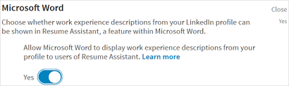 How To Use The LinkedIn Resume Assistant In Microsoft Word Delectable Resume Assistant