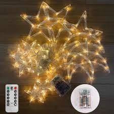 Dây Đèn Led 3.5m 8 Chế Độ Hình Ngôi Sao / Mặt Trăng Trang Trí Tiệc Cưới /  Giáng Sinh - Đèn trang trí