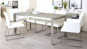 full size of eve frosted glass extending dining table in grey and brushed 6 kitchen sets