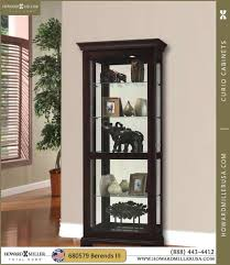 Glass Curio Cabinets With Lights 680478 Howard Miller Five Levels Display Oak Curio Cabinet