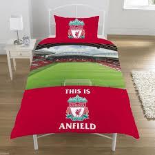 Liverpool Fc Bedroom Accessories Liverpool Football Club Red Anfield Stadium Single Duvet Set Quilt