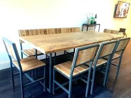industrial look furniture. Industrial Look Dining Table Reclaimed Wood With Bench Tables Style Chair  Se . Furniture O