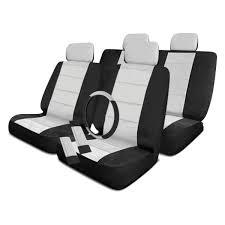 pilot black gray low back seat cover combo kit