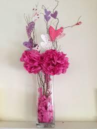 Paper Flower Base Valentines Day Diy Tissue Paper Flowers In A Vase Fabkids Blog