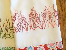 kitchen towel embroidery designs. country garden stitchery kitchen towel embroidery designs