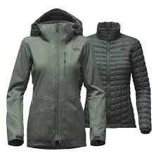 the north face thermoball snow triclimate parka women s darkest spruce heather