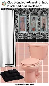 black and pink bathroom accessories. Vintage Pink And Black Bathroom Ideas To Decorate A Using Classic Kitsch Designs Accessories T