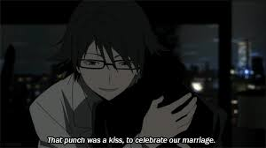 Image result for celty and shinra gif