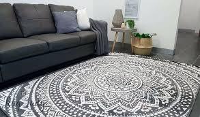 modern grey rug wool dark