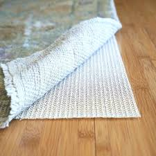 lock non slip natural rubber rug pad are pads safe for hardwood floors