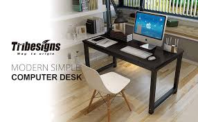 Modern desk office Computer Tribesigns 47 Boblewislawcom Amazoncom Tribesigns Modern Simple Style Computer Desk Pc Laptop