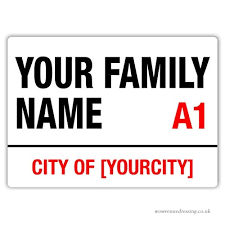 wtf personalised family street sign normal style with sticky pads metal wall on personalised metal wall art uk with wtf personalised family street sign normal style with sticky pads