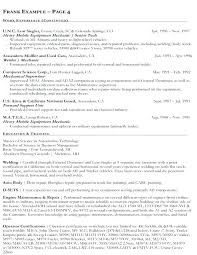 Federal Job Resume Format Federal Job Resumes Federal Government Job