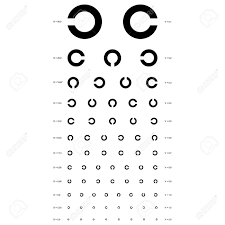 Vision Acuity Chart Vector Eye Test Chart Visual Acuity