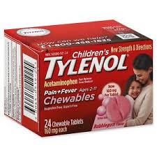 Children S Chewable Tylenol Dosage Chart Details About Tylenol Childrens Pain And Fever Chewable Tablets Bubblegum 24 Ct