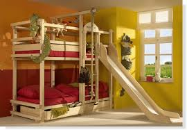 kids bedroom furniture with slide. wooden bunk beds with stairs plus slide and red bed linen drawers for kid bedroom kids furniture e