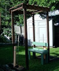 Arbor Bench Grape Arbor With Bench For A Small Space 9 Steps Grape Arbor  With Bench