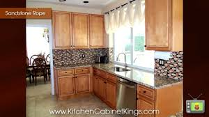 New Yorker Kitchen Cabinets Sandstone Rope Kitchen Cabinets By Kitchen Cabinet Kings Youtube