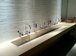 commercial bathroom sink. Concreteworks Trough Sink For Commercial Restroom Bathroom N