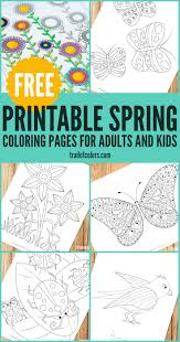 Spring Coloring Pages For Grown Ups And Kids Trail Of Colors