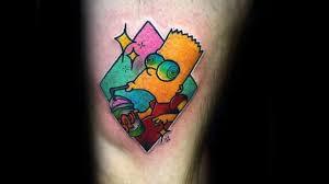 тату барт симпсон 50 татуировок с героем мультсериала Bart Simpson