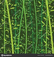 Naadloze Bamboe Patroon Achtergrond Groene Bamboe Behang