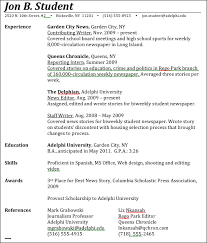 resume listing education
