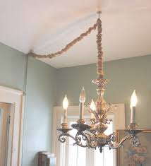 how to hang a chandelier in a room without wiring for an overhead in hanging