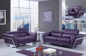 purple bonded leather sofa set with chrome legs