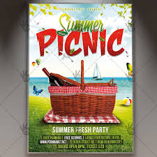 Picnic Template Summer Picnic Flyer Template Nessplus