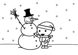 Kleurplaat Sneeuwpop Maken Afb 26887 Images