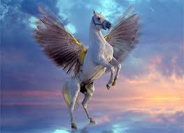 <b>Pegasus</b>, the <b>winged</b> horse in Greek Mythology