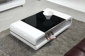 modern glass coffee tables minimalist center table a coffee black glass modern 3pc coffee table