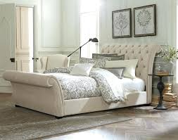 upholstered leather sleigh bed. Modern Sleigh Bedroom Sets Popular King Size Astounding Brown Tufted Leather Bed Design With Upholstered Also Headboard And D
