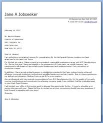 Resume Sample Cover Letters For Engineering Jobs Best Inspiration