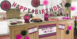 ... Pink & Black Birthday Party Supplies ...